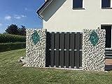 Gabionensäule eckig 160 x 40 x 40 cm, MW 5 x 10 cm, Draht 4,5 mm mit Boden und Deckel