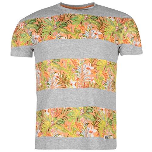 ocean-pacific-panel-imprime-t-shirt-tee-top-haut-col-rond-manches-courtes-homme-gris-marl-large