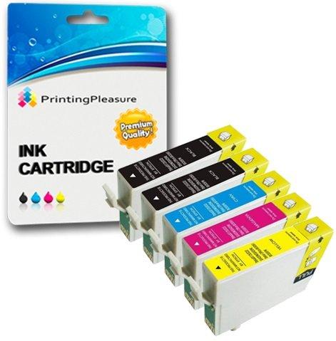 5 XL Compatibili T1281-T1284 (T1285) Cartucce d'inchiostro per Epson Stylus S22 SX125 SX130 SX230 SX235W SX420W SX425W SX430W SX435W SX438W SX440W SX445W Office BX305F BX305FW Plus - Alta Capacità