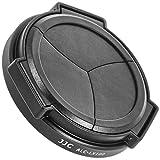 JJC Auto Lens Cap, Lens Cap for Panasonic Lumix LX100, LX100Black