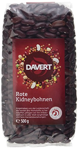 Davert Rote Nierenbohnen, 4er Pack (4 x 500 g) - Bio