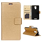 BQ Aquaris U Plus Case, BasicStock Slim Fit Litchi Texture