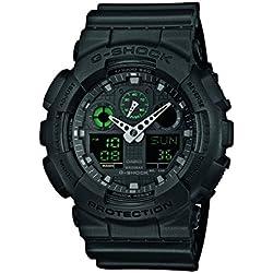 Casio G-Shock Reloj Analógico/Digital de Cuarzo para Hombre con Correa de Resina – GA-100MB-1AER