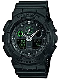 G-Shock Herren Armbanduhr Xl G-Shock Analog - Digital Quarz Resin Ga-100Mb-1Aer