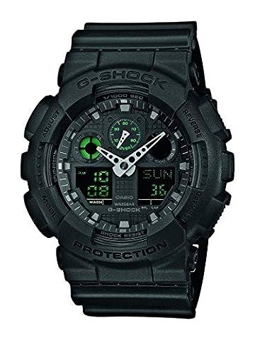 G-Shock Herren Armbanduhr Xl G-Shock Analog - Digital Quarz Resin Ga-100Mb-1Aer
