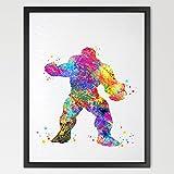 dignovel Studios Poster Avengers Hulk Aquarelle Art Print Art Poster mural pour suspension murale de décoration de chambre enfant Jeux cadeau d'anniversaire Imprimé Aquarelle Art n351-unframed