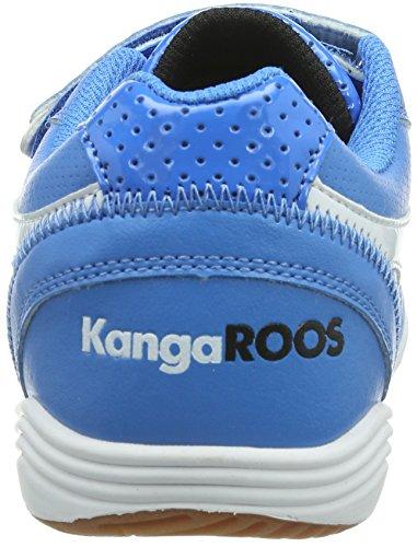 Kangaroos Power Court, Chaussures de sports en salle garçon Bleu (Blue/White 410)
