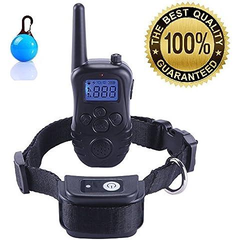 Havenfly - Collar de adiestramiento para perros con control a distancia de 300 metros, recargable, 3 modelos 1 a 1, color