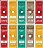 Toast Coffee 100 Nespresso Compatible Coffee Capsules - Variety Pack (30 x Colombia, 30 x Sumatra, 20 x Ethiopia, 20 x Brazil)