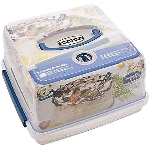 Bloccare E Chiudere A Tenuta D'Aria Di Plastica Portatile Scatola Torta 12.6L - Confezione da 4