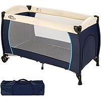 TecTake Cuna de viaje bebe plegable con bolsa de transporte - disponible en diferentes colores -