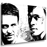 Boikal / Leinwand Bild Brad Pitt Fight Club Leinwanddruck, Kunstdruck fm21 Wandbild 80 x 60 cm