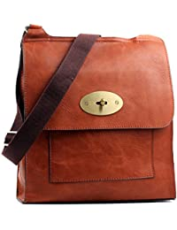 78eca7051b Aossta Faux Leather Large Medium Twist Lock Cross Body Messenger Bag  Turnlock Shoulder Bag