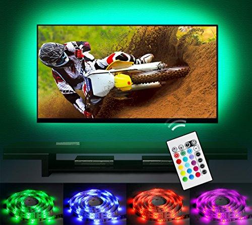"""Bias Beleuchtung LED TV Hintergrundbeleuchtung Streifen Emotionlite USB Powered Multi Farbe geändert RGB Tape für 60 """"bis 70"""" Flachbildschirm HDTV LCD 24keys Fernbedienung"""