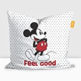 "Disney Mickey Mouse Digital Printed Cushion Filled With Microbeads - Pack Of 1 (16""x16"")"