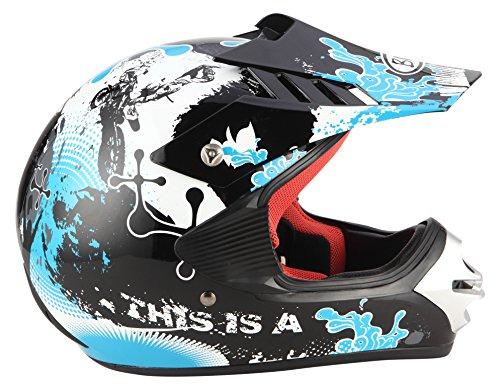 BHR Casco de Motocross, color Turquesa, talla 48