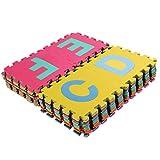 VOVO Vovotrade Baby 36pcs Große Alphabet Zahlen Eva Boden Spielmatte Baby Zimmer Puzzle ABC Schaum Puzzle für Kleinkind Kind (Mehrfarbig, 15.5*15.5cm)