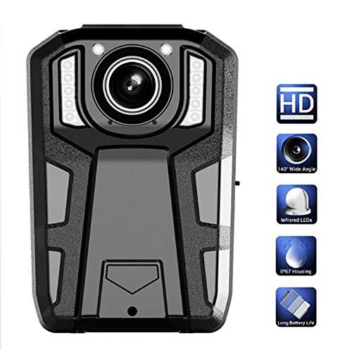 1296P 14MP FHD 32GB Videorecorder IR Nachtsicht Sicherheitspolizei DVR Am Körper getragene Kamera Tragbares 140 ° Objektiv Tragbares Taschenformat,64G