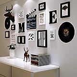 LQQGXL Dekorative Wandrahmenkombination des nordischen hölzernen Wohnzimmers kreative Fotowand Bilderrahmen (Farbe : B)