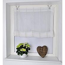 Estor plegable Casa crema con ojales y ganchos, 45 * 125 cm