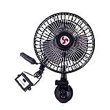 Pawaca - Ventilador eléctrico para Coche de 24 V, rotación de 360 Grados, 4 velocidades, Ventilador de refrigeración de Aire para Furgoneta, SUV, RV, Barco, camión, Golf, Ventosa de Ajuste