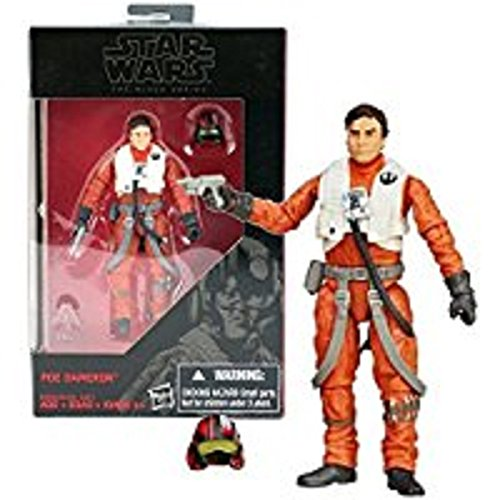 Hasbro Year 2015 Star Wars The Black Series Exclusive 10cm Tall Action Figure - POE DAMERON (B5008) with Blaster and Pilot Helmet
