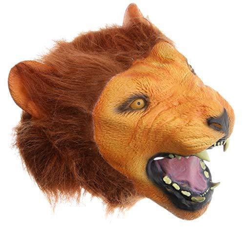 SM SunniMix Löwenmaske Tiermaske Latexmaske Cosplay Maske für Streich - Löwe Kostüm Streich