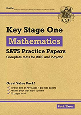 New KS1 Maths SATS Practice Papers: Pack 3 (for the 2019 tests) (CGP KS1 SATs Practice Papers) by Coordination Group Publications Ltd (CGP)