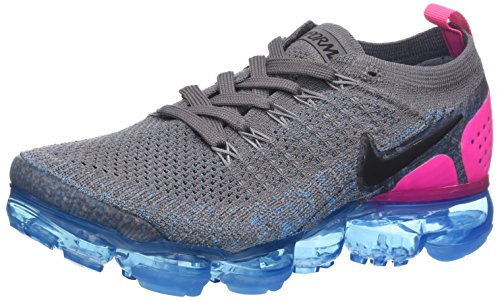 save off 02872 12101 Nike W Air Vapormax Flyknit 2, Zapatillas de Running para Mujer, Gris (Gun  Smoke/Black/Blue Orbit/Pink Blast 004), 39 EU