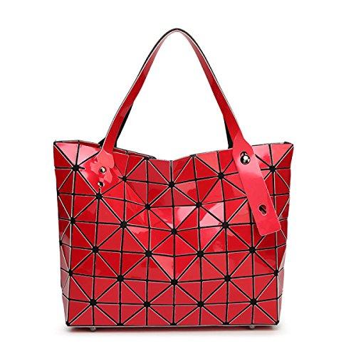 Sac à Bandoulière Portatif Japonais à Grande Capacité Lingge Géométrique red