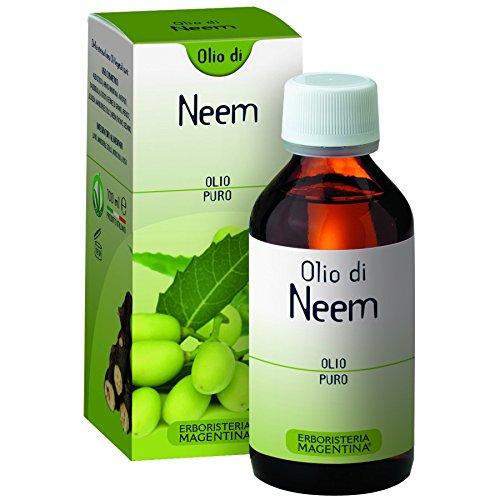 ERBORISTERIA MAGENTINA - OLIO PURO DI NEEM 100ML utile per contrastare acne, herpes, forfora, micosi ed insettorepellente