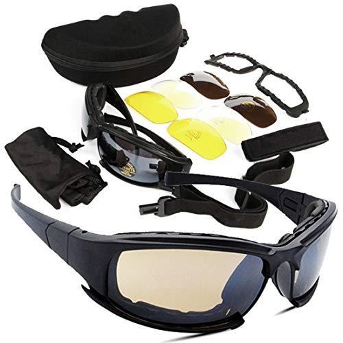 Polarisierte Sonnenbrille mit UV-Schutz Unisex-Schlagfestigkeit-Sport-Sonnenbrille mit austauschbaren Gläsern UV-Schutz für Radfahren Motorrad fahren Laufen Angeln Superleichtes Rahmen-Fischen, das Go