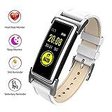 Fitness Tracker/Smart Bracciale, Smart Watch contapassi Impermeabile pedometro di attività Tracker, cardiofrequenzimetro, IP68 Impermeabile, GPS Track, modalità Multi-Sport,White