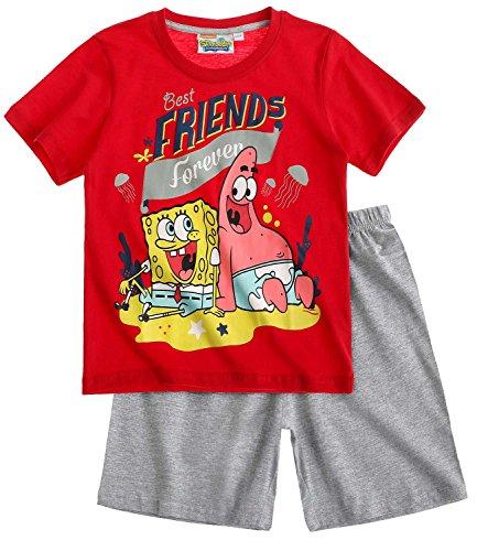 Sponge Bob Jungen Shorty-Pyjama - rot - 116