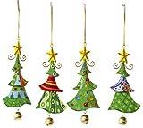 Small Foot by Legler Metallanhänger Tannenbaum, Weihnachtsartikel/Dekoartikel 4er Set in Tannenbaum-Form, schöne Weihnachtsdekoration am Weihnachtsbaum, Fenster oder Türgesteck
