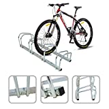 Todeco - Fahrradständer, Fahrradanlehnbügel - Montageart: Wandhalterung - Material: Pulverbeschichteter Stahl - Passend für 4 Fahrräder