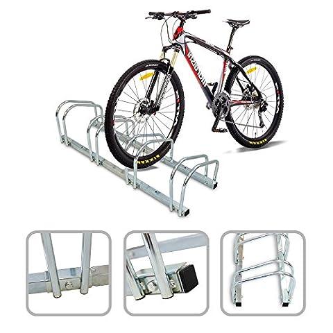 Todeco - Râtelier Familial pour Vélo, Support de Rangement Vélo - Taille: 99 x 32 x 26 cm - Type d'installation: Support mural - Peut contenir 4 vélos