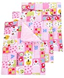 #5: RBC Riya R Baby One Sided Cotton Plastic Sheet Pack Of 4Pcs (Assorted)(0-6 Months)