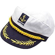 Gazechimp Sombrero de Marinero Capitán Accesorio de Vestido de Disfraces de Fiesta Gorro de Rumania Sentimientos Amorosos para Hombres Mujeres