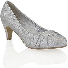 ESSEX GLAM Sintético Zapatos de salón con tacón bajo para bodas