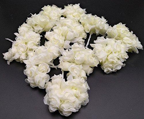 Satyam Kraft Artificial Fabric Rose Flower For Tiara Making,Decoration ,12 Fabric Rose...