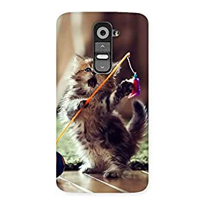 Special Dancing Cute Cat Back Case Cover for LG G2