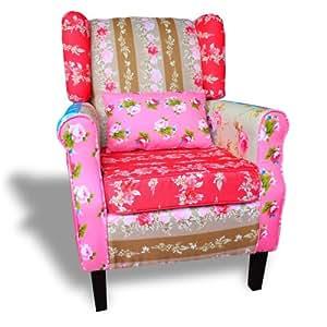 patchwork sessel relaxsessel ohrensessel bunt mehrfarbig. Black Bedroom Furniture Sets. Home Design Ideas