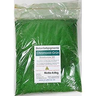 Chromoxid Grün Pigment 0,5kg Pulver für Betonmasse, Putze, Gips.(€19,60/kg)