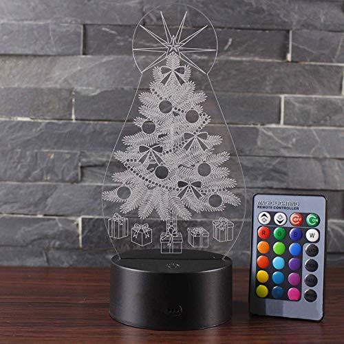 Christmas treetheme 3D Lamp LED night light Christmasgift -