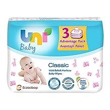 Uni Baby Classic Islak Havlu 3'lü, 168 Yaprak