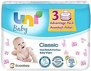 Uni Baby Classic Islak Havlu 3'lü, 168 Ya