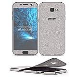 Urcover Samsung Galaxy A5 2017 Glitzer-Folie zum Aufkleben | Folie in Silber | Zubehör Glitzerhülle Handyskin Diamond Funkeln Schutzfolie Handy-schutz Luxus Bling Glamourös