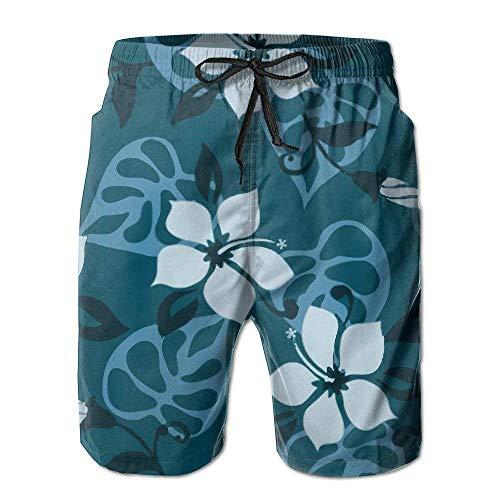Pantalones Cortos de Playa de Verano de Estilo Hawaiano de Flores para Hombre, bañador,M