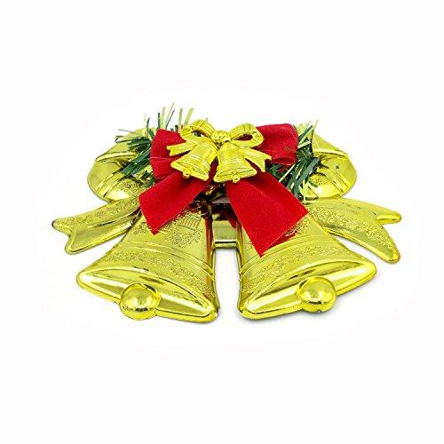 LEEDY 2019 - Adornos para árbol de Navidad, Colgante de Campanas Dobles, decoración de Navidad, Adornos Colgantes, Accesorios de decoración